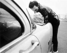 Joe Strummer and Gaby Salter in New York, 1981, by Bob Gruen