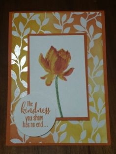 Stampin' Up - Michelle Johnstone - SAB catty 2015 , Lotus blossom, irresistibly yours DSP in crushed curry,  calypso and rose red http://www.stampinup.net/esuite/home/michellejstamping/
