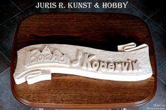 Wood carved Signboard by Juris Rudzitis