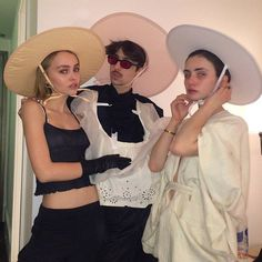 Pin for Later: Is #Bonnetcore the Next Big Street Style Accessory Trend? Lily-Rose Depp Is on Board With #Bonnetcore