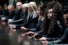 Still of Helena Bonham Carter and Tom Felton in Harry Potter and the Deathly Hallows: Part 1