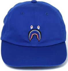BAPE SHARK PANEL CAP BLUE. #bape Bape Shark, Baseball Hats, Cap, Mens Fashion, Blue, Shopping, Collection, Baseball Hat, Moda Masculina