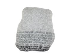 Pebble rock shaped pillow - soft knitted pillow, grey. Colette Bream.
