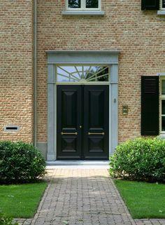 black door + pale gray trim