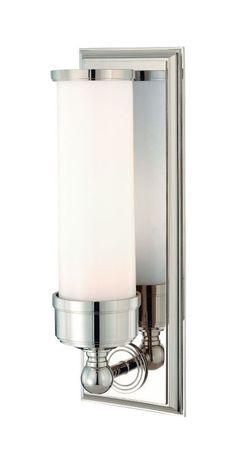 Hudson Valley Lighting 371 Indoor Wall Sconce Light Polished Nickel Indoor Lighting Wall Sconces Up Lighting