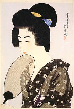 Woman in a Chignon  by Ito Shinsui, 1924  (published by Watanabe Shozaburo)