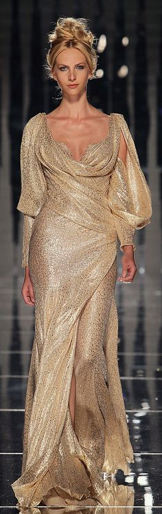 Gold evening gown - Abed Mahfouz Couture F/W 2011-2012