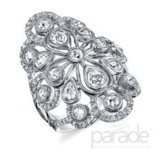 Parade's BD3139A set with rose cut diamonds and white sapphires.