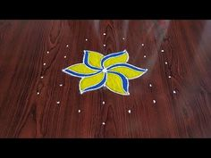 Easy chukkala muggulu Easy rangoli Simple rangoli Thanks for watching 🙏🙏 Please like share comment below for more vi. Indian Rangoli Designs, Small Rangoli Design, Rangoli Designs With Dots, Beautiful Rangoli Designs, Simple Flower Design, Simple Flowers, Flower Designs, Diwali Drawing, Rangoli Simple