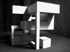 """Cubic Negative Space Modelling """"Exercise in mass elimination, evolving from a 2D linear visualization, into a 3D 8x8"""" sculptural cube."""