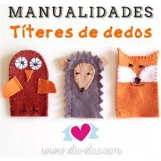 Manualidades: Títeres de dedos caseros / Etiquetas para marcar la ropa | ETIC-ETAC