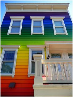 RAINBOW!!!-8 strangely painted homes
