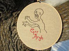 Buffy the vampire slayer 6 inch embroidery hoop art - mutant enemy joss whedon grr argh monster