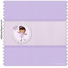 """CALLY'S  DESIGN-Kits Personalizados Gratuitos: Kit de Personalizados """"Bailarina Roxa"""" para Imprim..."""
