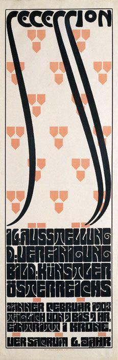 Secession . 16. Ausstellung der Vereinigung Bildender Künstler. Design by Alfred Roller — 1903