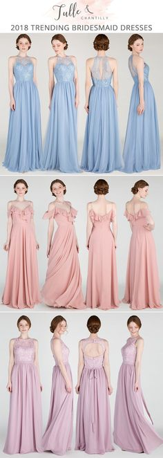 bridesmaid dresses for spring summer 2018 #bridalparty #bridesmaiddresses