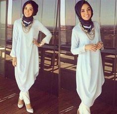 Model Busana Hijab Casual Remaja Terbaru 2016/2017