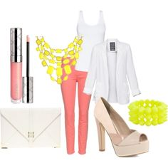 neon, created by lecron on Polyvore