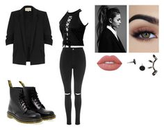 """Outfit#2"" by ubertastic101 on Polyvore featuring Topshop, River Island, Dr. Martens, Repossi and Lime Crime"