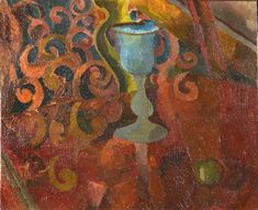 ✽   duncan grant  -  'still life with goblet and apple'  -  1916 -  oil on canvas