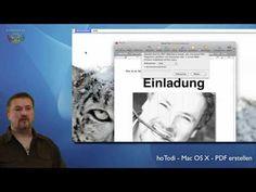 PDF Dokumente unter Mac OS X erstellen und schützen