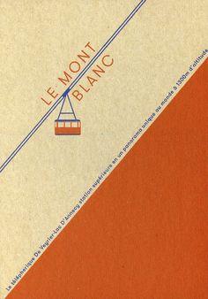 Le Mont Blanc postcard