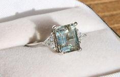 Elegant Aquamarine Ring by lovelaurahs on Etsy