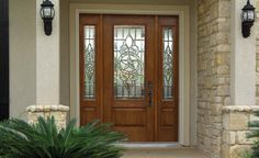 Exterior, : Fabulous Images Of Front Doors With Front Entry Doors Fiberglass With Sidelights Design Ideas