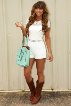 Look Into Your Heart Romper: White#shophopes