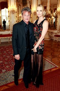 Charlize Theron wore a Givenchy dress to attend the Life Ball in Vienna with partner Sean Penn   Harper's Bazaar