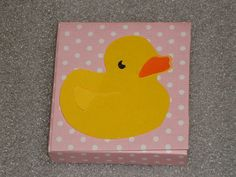 Duck Shaker  Favor Box for  Birthdays Baby by LadyJPaperGarden