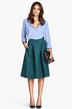 This casual A-line skirt is the epitome of transitional: Add a button down for a professional work look or a pullover for a fun Sunday brunch ensemble. H&M Crinkled Skirt, $34.95, available at H&M.  From: 10 H&M Finds That Could Easily Pass For Designer