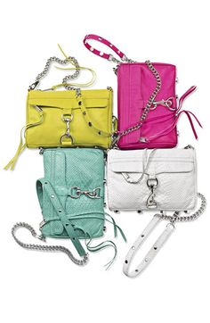 "Rebecca Minkoff ""Mini Mac"" crossbody/clutch - Love the green color!!"