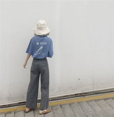 21a33f0e1383a Buy monroll Printed Back Elbow Sleeve T-Shirt   Gingham High Waist Pants at  YesStyle