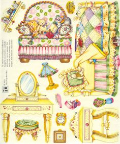 gold country girls: Mary Engelbreit Magnetic Dollhouse - Bedroom
