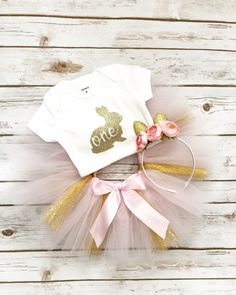 Bunny First Birthday Outfit | First Birthday Outfit Girl | Spring First Birthday