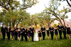 Photo of large wedding party at Gateway Canyons