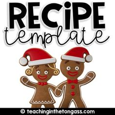 Create a class cookbook with these versatile recipe pages! Send home for parents to complete and return and turn into a memorable keepsake for your students! Winter and Christmas themed pages included in color and black/white. Feedback isn't required, but it's very much appreciated!