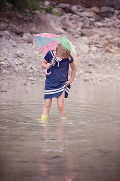 Bach, Child, Free Images, Free Photos, Girl, Human, Nature, Out, Person, Portrait, Rain, Rubber Boots, Umbrella, Water | Image Finder
