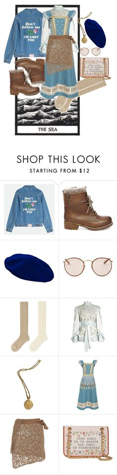 """between the mountains and the sea"" by bandidalinda ❤ liked on Polyvore featuring Steve Madden, Ray-Ban, Uniqlo, Hillier Bartley, Chanel, Temperley London, Moschino and Blue"