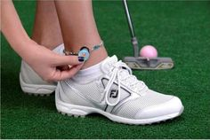 Check out our One Putt Designs Par 3 Golf Ball Marker Ankle Bracelets - Golf Balls & Flag at Lori's Golf Shoppe.  Free Shipping!