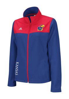 2. Kansas Jayhawks Adidas Womens Blue Micro Fleece Jacket