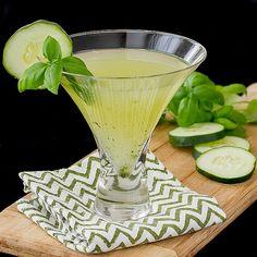 Cucumber Basil Martini - Light and Refreshing