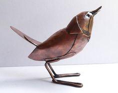 Cobre de Steampunk Wren escultura