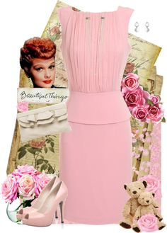 """""""Vintage Lucy"""" by lmm2nd ❤ liked on Polyvore"""