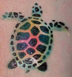 turtle tattoo design  Right foot w/ Starfish...