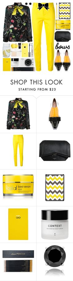 """""""Put a Bow on It!"""" by barbarela11 ❤ liked on Polyvore featuring I'm Isola Marras, Marni, Dsquared2, Givenchy, Rodial, Smythson, Nikon, Sloane Stationery and Finesque"""