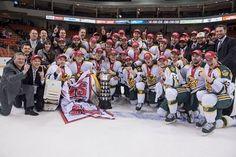 Golden Bears Hockey team claims their 15th CIS banner!