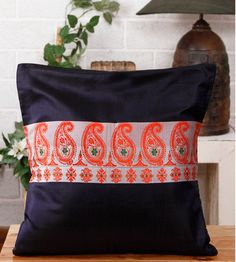 Festive and yummy hand loom pure silk cushion cover to change the vibe of the room without any expensive innovation.  Available at http://miharu.in/store/index.php?route=product%2Fcategory&path=60_73