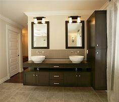Wandschrank für Badezimmer modern zwei waschbecken
